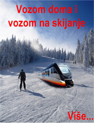 Go home by train and go skiing by train