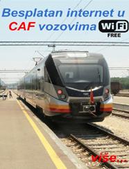 Besplatan internet u CAF vozovima